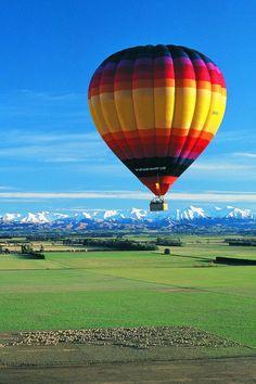 Ballooning on the Canterbury Plains
