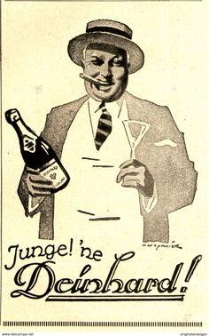 Werbung - Original-Werbung/ Anzeige 1925 - DEINHARD SEKT - ca. 65 x 110 mm