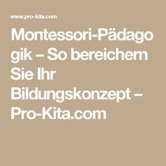Montessori-Pädagogik – So bereichern Sie Ihr Bildungskonzept – Pro-Kita.com