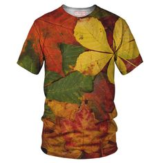 Autumn Leaves T-Shirt - Special 3D Sublimation Printing Technique - Sale available on shirts, tshirts, sweatshirts (jumpers) and hoodies.