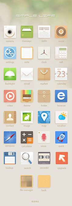 "pinterest.com/fra411 #Apps #Icon - Awesome Icons ""Simple Life"""