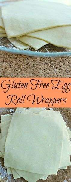 Gluten Free Egg Roll Wrappers - Not Too Shabby Gabby Gluten Free Egg Roll Wrappers. So easy to make and the best part is they taste the same as regular egg roll wrappers too! Perfect for wontons as well. Gluten Free Cooking, Gluten Free Diet, Gluten Free Chinese Food, Gluten Free Breads, Best Gluten Free Bread, Gluten Free Crackers, Gluten Free Tortillas, Gluten Free Donuts, Corn Tortillas