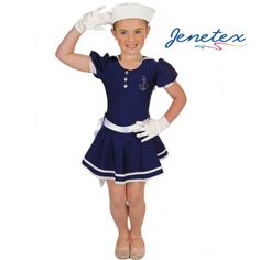 navy girl costume for kids | sailor-girl-child-character-dance-costume