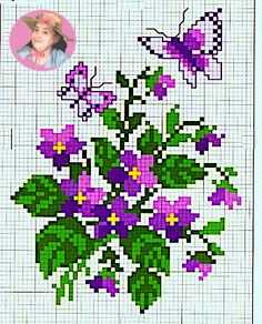 Cross Stitch Designs, Cross Stitch Patterns, Sewing Projects For Kids, C2c, Cross Stitch Flowers, Loom Beading, Le Point, Sewing Techniques, Animal Crossing