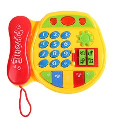 Kids Child Music Phone Study Educational Toy Gift Early Learning Telephone,mobile kids phones, color Random