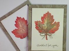 Stampin'Up!: Vintage Leaves Gold Embossed Fall Card - YouTube