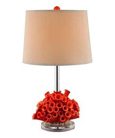 Look what I found on #zulily! Coral Dalton Table Lamp #zulilyfinds. Love this and I wonder what flowers would look like in the bottom.