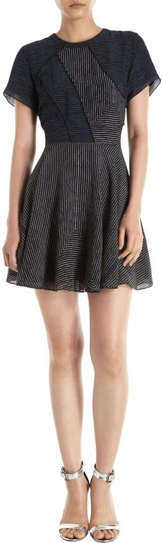 @roressclothes clothing ideas #women fashion Proenza Schouler Striped Patchwork Dress: