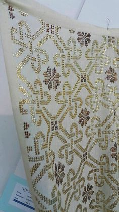 This Pin was discovered by Şer Vintage Embroidery, Embroidery Art, Cross Stitch Embroidery, Cross Stitch Borders, Tapestry Crochet, Blackwork, Elsa, Pattern, Crafts