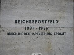 The area where the Olympic Games were held in Berlin in August 1936 was known as the Reichssportfeld