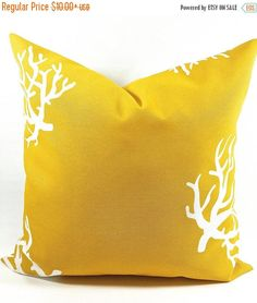 SALE Pillow cover.Indoor.outdoor.Gold and  white pillow