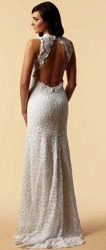 beautiful white wedding crochet dress $349