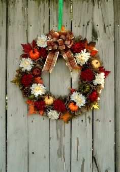 Large Fall Floral Wreath for Front Door, Farmhouse Wreath, Fall Decoration, Autumn Decoration, Large Wreath, Fall Porch Decor, Burlap Wreath