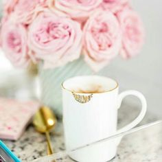 So much to do today! But first...You know the drill.  #coffee #roses #sugarluxeshop sugar luxe shop