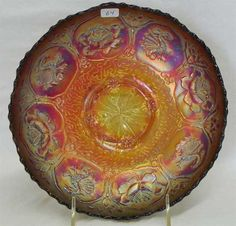 Lot # : 64 - Dragon & Lotus IC shaped bowl - red