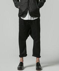 GANRYU Men's(ガンリュウ メンズ)のサルエルパンツ(パンツ)|ブラック