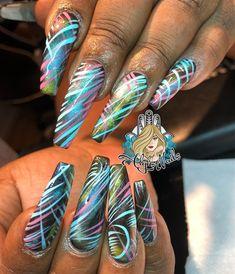 Day 114: Bright Spring Shapes Nail Art - - NAILS Magazine