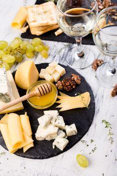 Assortment of cheese by bondarillia on PhotoDune. Assortment of cheese with walnuts, bread an honey on stone slate plate Brie, Epoisses, Saint Marcellin, Parmesan, Cracker, Buffet, Dessert, Dairy, Plates