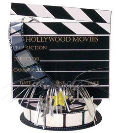 "Hollywood Movie Set Centerpiece | 13"" x 13"""