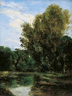 A Corner of Hampstead Ponds, London by John Constable (1776–1837)