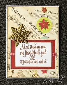 Pysseldags: Julkort för alla smaker Christmas card by DT Zildara