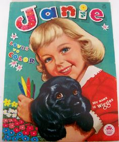 Vintage 1963 Janie Loves To Color Unused Coloring Book