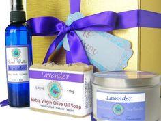 Spa gift set  Lavender bath set  gift for her  by AromaScentsLLC