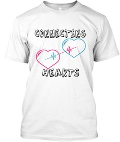 Connecting  Hearts White T-Shirt Front