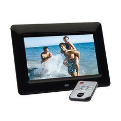 """Porta-Retrato Digital Dazz 657-2 Preto c/ Tela em LCD de 7"""", Entrada USB e Cartão de Memória, Calendário, Relógio e Slide Show - Porta-Retrato Digital no Pontofrio.com"""