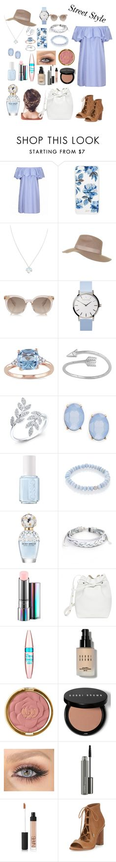 """""""Street style"""" by patriciaaa02 ❤ liked on Polyvore featuring Sonix, Wolf & Moon, Topshop, Miadora, Midsummer Star, Anne Sisteron, Cara, Essie, Sydney Evan and Marc Jacobs"""