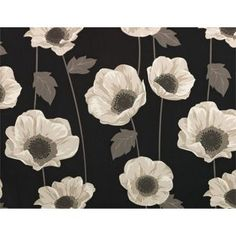 Buy Elissia Poppy Unlined Pencil Pleat Curtains 168x183cm- Black at Argos.co.uk, visit Argos.co.uk to shop online for Curtains, Home furnishings, Limited stock Home and garden