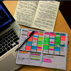 Color coding your planner with highlighters.