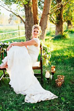 Cap Sleeve Lace Wedding Gown With Long Train1