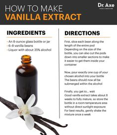 Anti-Inflammatory Extract for Your Medicine Cabinet (Make It Easily at Home) Pure Vanilla Extract Benefits, Recipes & How to Make Your Own - Dr. AxePure Vanilla Extract Benefits, Recipes & How to Make Your Own - Dr. Homemade Spices, Homemade Seasonings, Homemade Food, Homemade Gifts, Vanilla Extract Recipe, Vanilla Recipes, Fee Du Logis, Food Gifts, Liquor