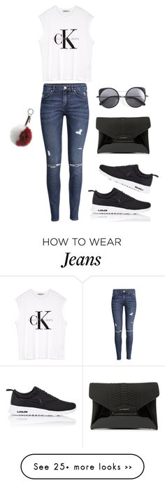 """Keeping Up W / Kendall x My CK Jeans"" by yourmajestyjordine on Polyvore featuring Fendi, H&M, Calvin Klein, NIKE, Givenchy and Wood Wood"