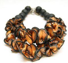 Chunky Jewelry Statement Necklace Ruffle Necklace by SaraAmrhein, $116.00