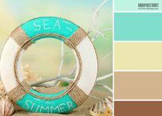 Оптимальным является сочетание цветов в интерьере при условии совмещения бирюзовой и белой красок. Именно такую пару часто применяют в спальной комнате. Paint Schemes, Color Schemes, Color Combinations, Lifebuoy, Bullet Journal School, Kid Spaces, Color Pallets, Sea Shells, Paint Colors