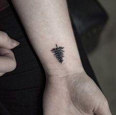Tree Tattoo on Wrist by Georgia Grey