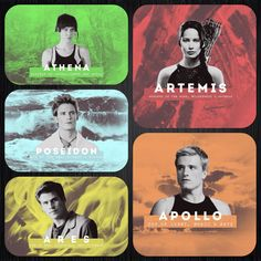 THG characters as Greek Gods. Inspired by crestedeen.tumblr.com
