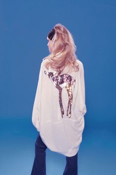 "I WILL have this. obsessing. ""let me just grab my sweater, deer."" From Wildfox's Fall 2011."