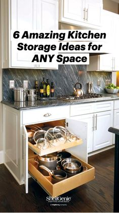 Small Kitchen Cabinets, Painting Kitchen Cabinets, Kitchen Redo, Kitchen Storage, Kitchen Organization, Kitchen Ideas, Island Kitchen, Kitchen Cabinet Drawers, Kitchen Cabinet Remodel