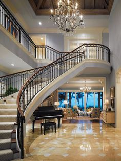 Grand Foyer - Redefined Classic Oceanfront Home In Delray Beach, FL