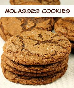 Molasses Cookies - big, soft, chewy cookie