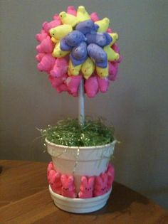 Our Easter Topiary Easter Peeps, Hoppy Easter, Easter Treats, Easter Dinner, Easter Brunch, Easter Festival, Sweet Trees, Easter Parade, Easter Celebration