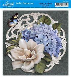 Litoarte Decoupage Vintage, Decoupage Paper, Painted Glass Vases, Decoupage Printables, Plaster Art, Seashell Art, Flower Clipart, Fabric Painting, Vintage Cards