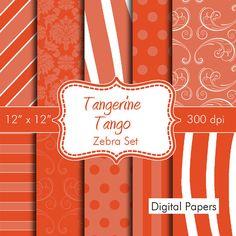 Pantones Spring Colors Zebra Digital Papers for by HeadsUpGirls, $4.50