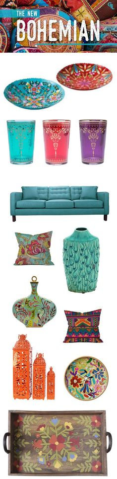 The new bohemian - Live with color == #Bohemiandecor