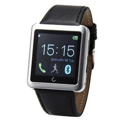 Geekercity® 2015 Water-resistant Touch Screen Bluetooth Smart Watch Wrist Digital Watches Sports Running Bracelet Smartphones Mate Partner Smartwatch Phone Wristband Wristwatch Fitness Health Passometer Step Walking Distance Calorie Counter Activity Tracker Sleep Monitoring Anti-Lost Anti-Theft Alarm Compass Music Play Vibration Distance Count Call SMS Time Reminder Clock Remote Photoes For Android IOS Cellphones Compatable With Apple iPhone 6 Plus 5S 5C 4S Huawei HTC One M8 LG G3 Nexus…