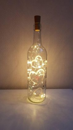 lightbottle bottle with light chain zen-like picture light chain hand painted bottle hand painted Wedding Wine Bottles, Lighted Wine Bottles, Bottle Lights, Image Zen, Light Chain, Bamboo Crafts, Wine Bottle Crafts, Decorating Tools, Xmas