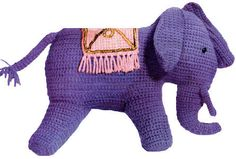 Crochet Elephant  via Etsy.